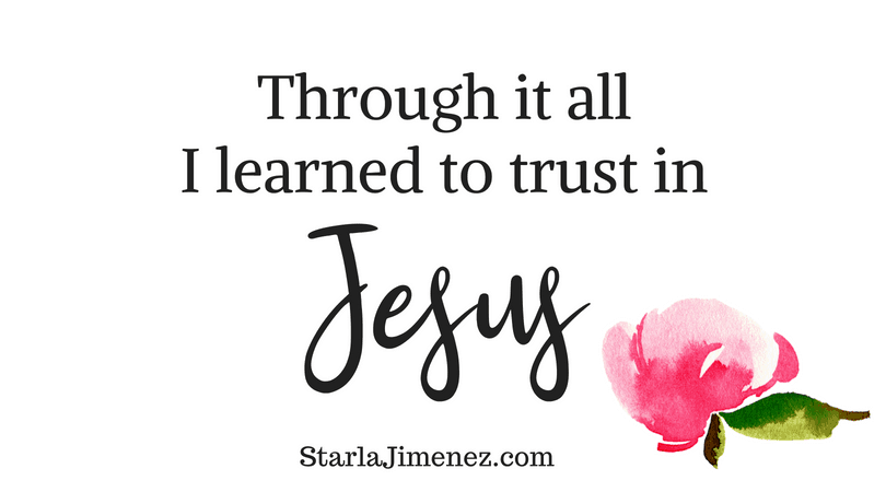 What is the of Joy, Through it all I learned to trust in Jesus,