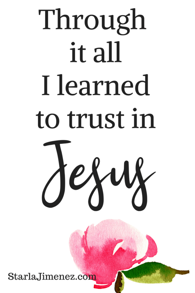What is the of joy, Through it all I learned to trust in Jesus