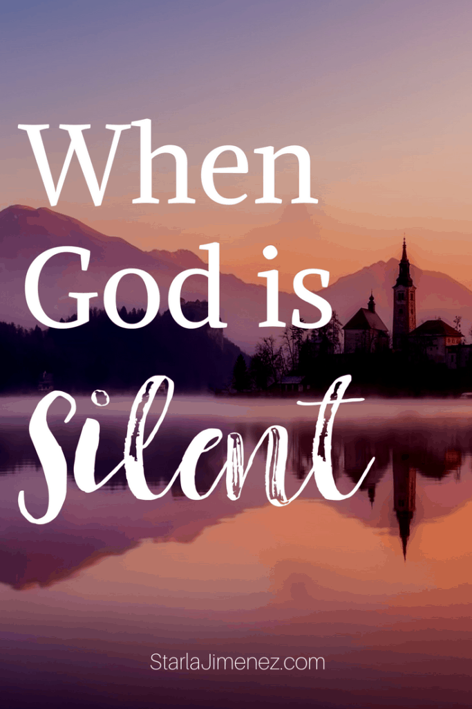 When God is Silent. How to live a God filtered life.
