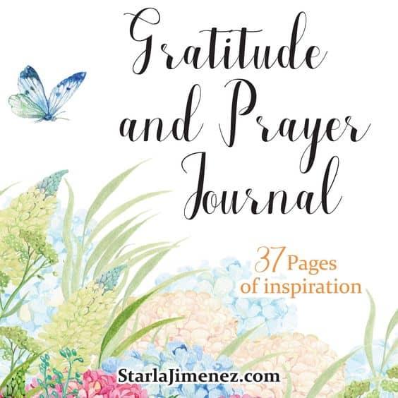 Gratitude and Prayer Journal, printables for christian women