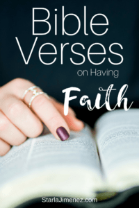 Bible Verses on Having Faith
