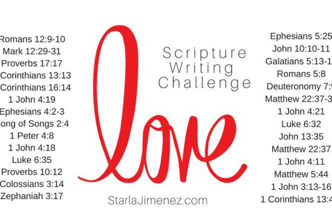 Bible Verses on Love: Scripture Writing Challenge ~ Coffee