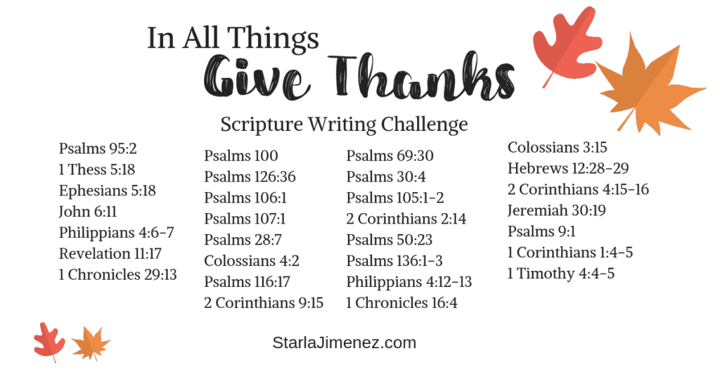 Bible Verses on Thankfulness