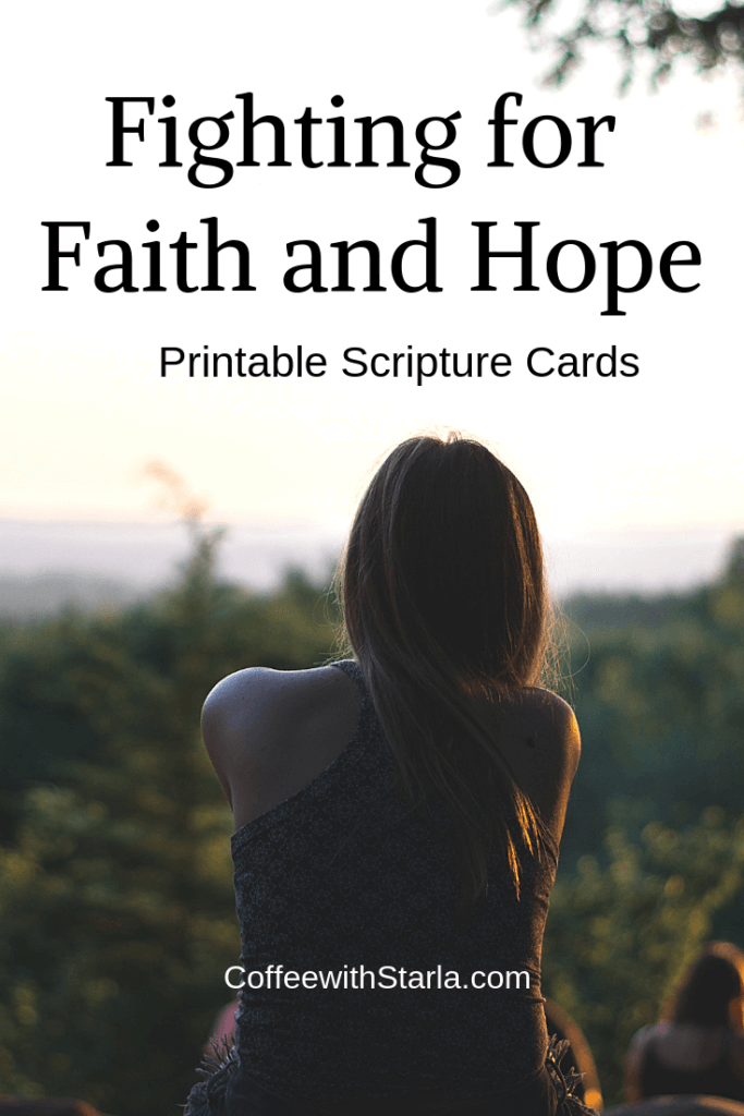 Fighting for faith and hope, the woman with an issue of blood, online bible study, free printable scripture cards