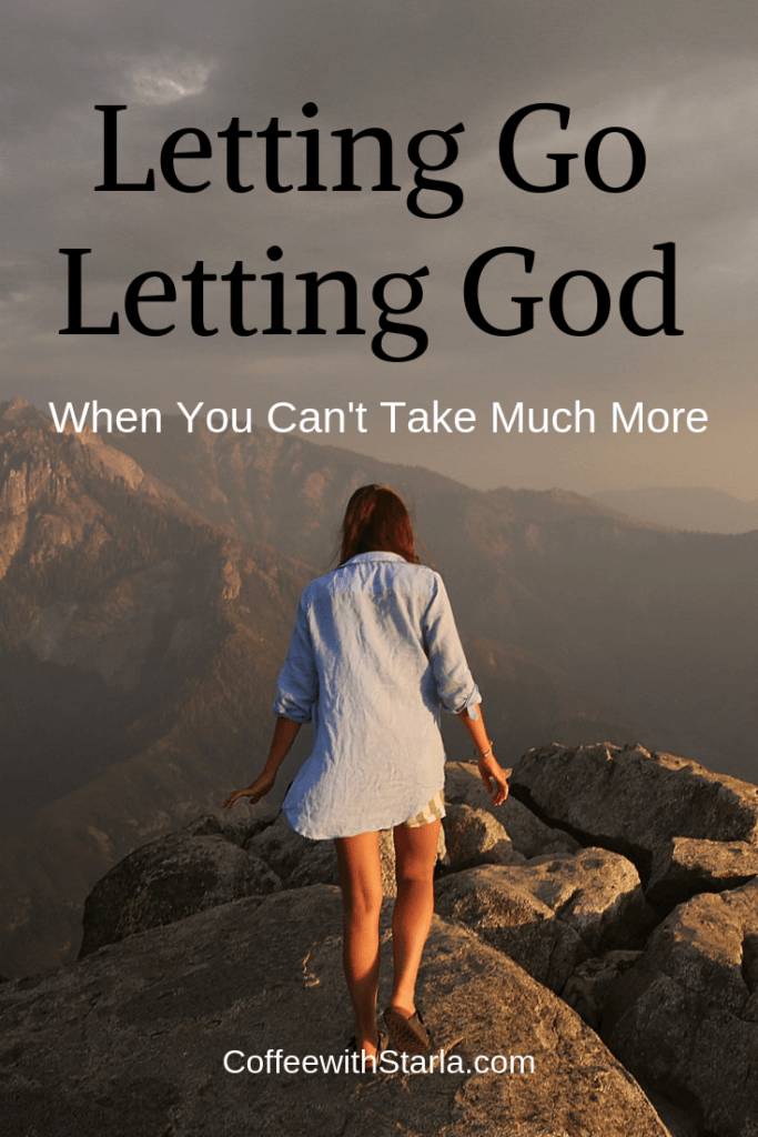 Letting God and Letting God, Wait for God to move, Waiting on God, Fill yourself up with God, Let go Let God