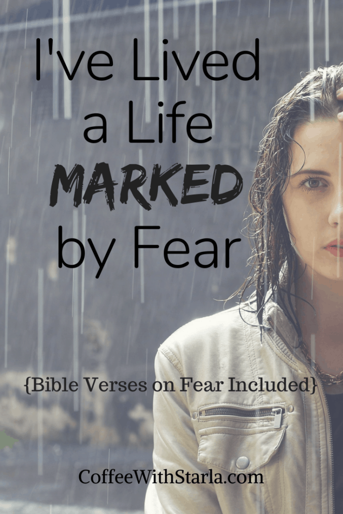 Do Not Be Afraid Bible verses, Woman standing in the rain with one hand on her forehead
