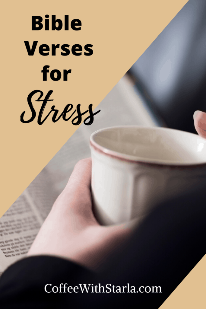Bible Verses for Stress, lady with coffee cup