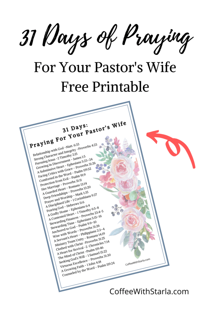 List of bible verses for Pastor's wife, Praying for Your Pastor's Wife
