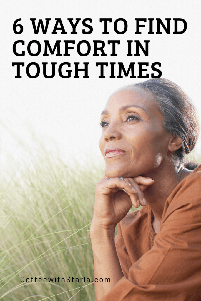 older beautiful black woman sitting in taller grass, 6 ways to find comfort in tough times