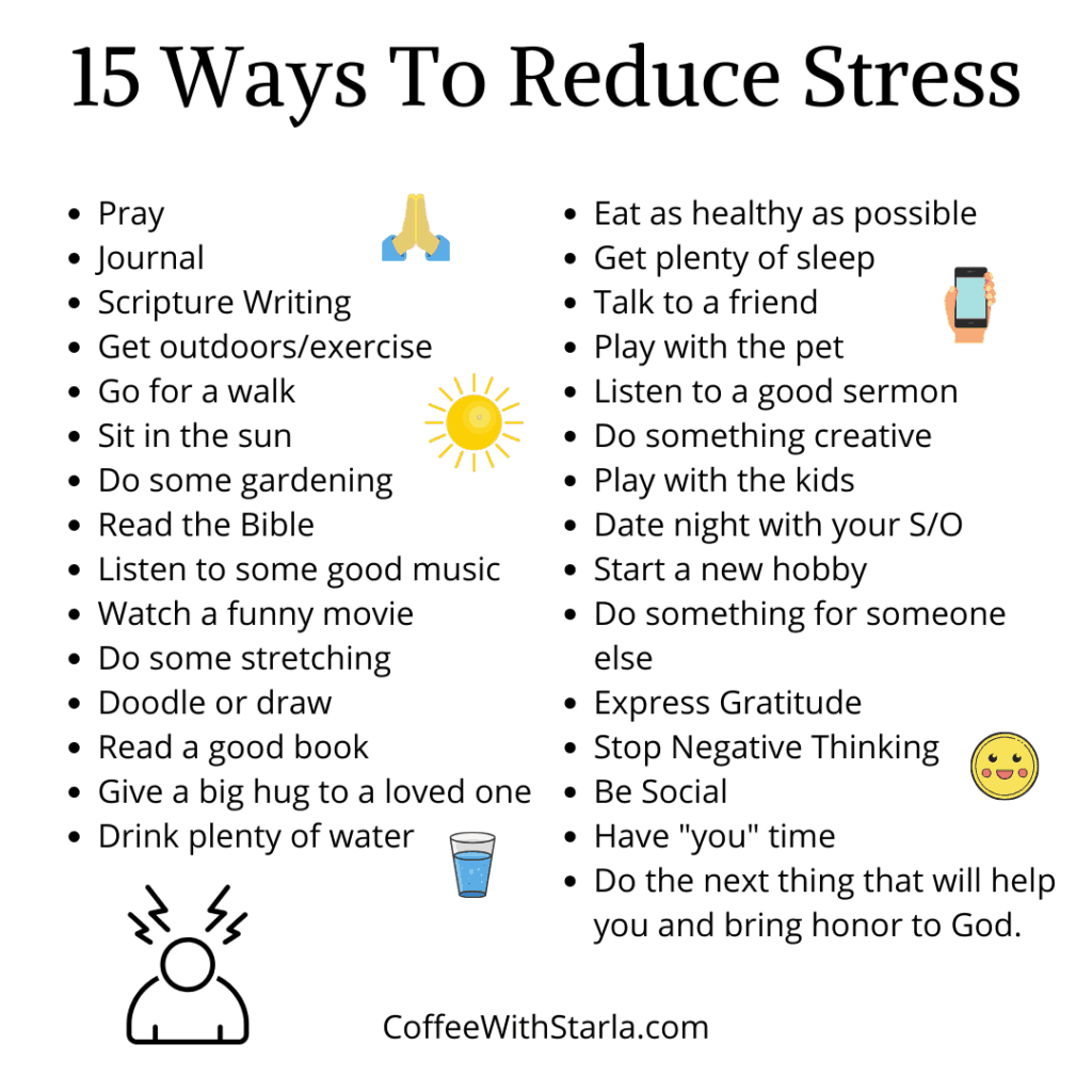 ways to relieve stress, ways to reduce stress