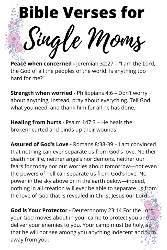 Bible Verses for Single moms