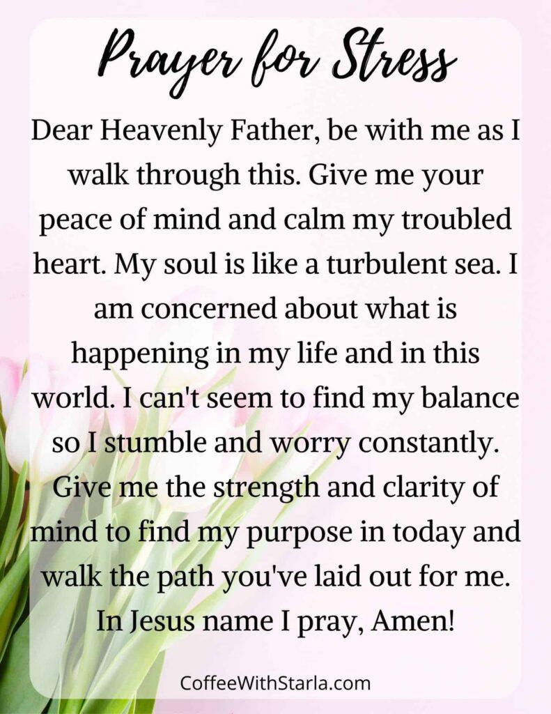 prayer for stress
