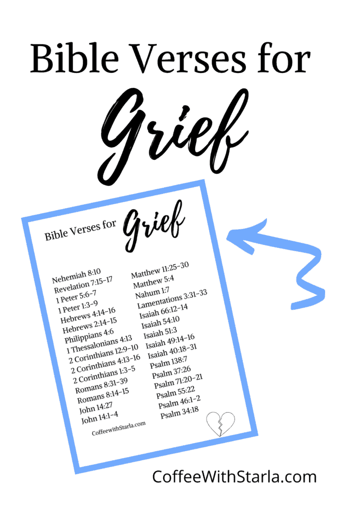 list of Scripture about grief