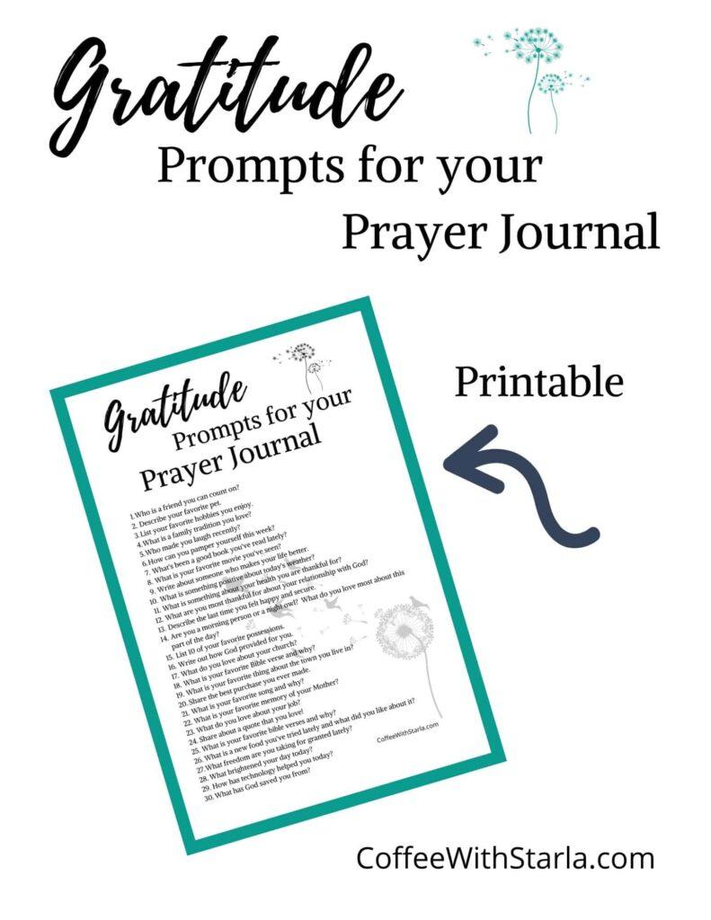 Gratitude journaling prompts