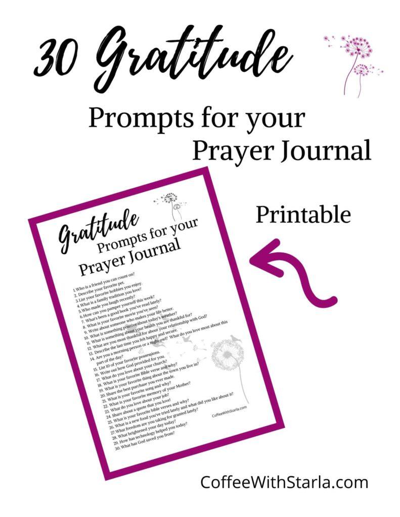30 Gratitude Journaling Prompts