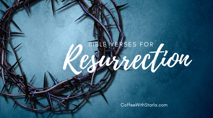 bible verses for resurrection, crown of thorns blue background