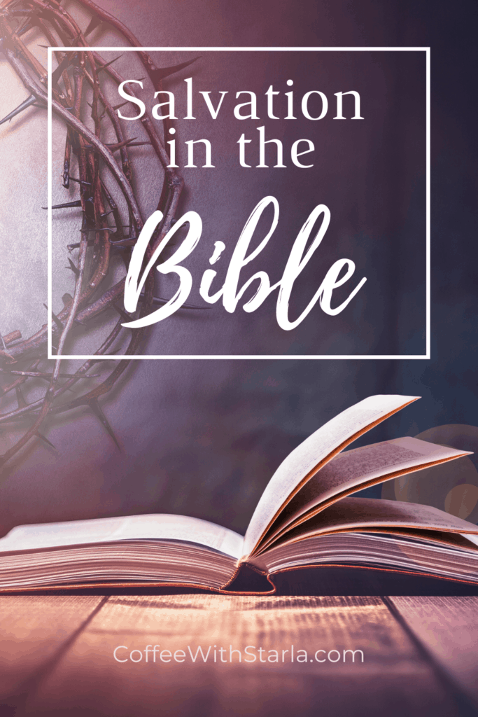 Salvation in the Bible, bible with crown of thorns