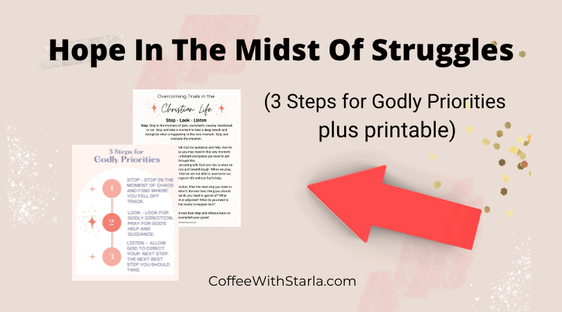 Christian life, hope in the midst of struggles, printable mockup