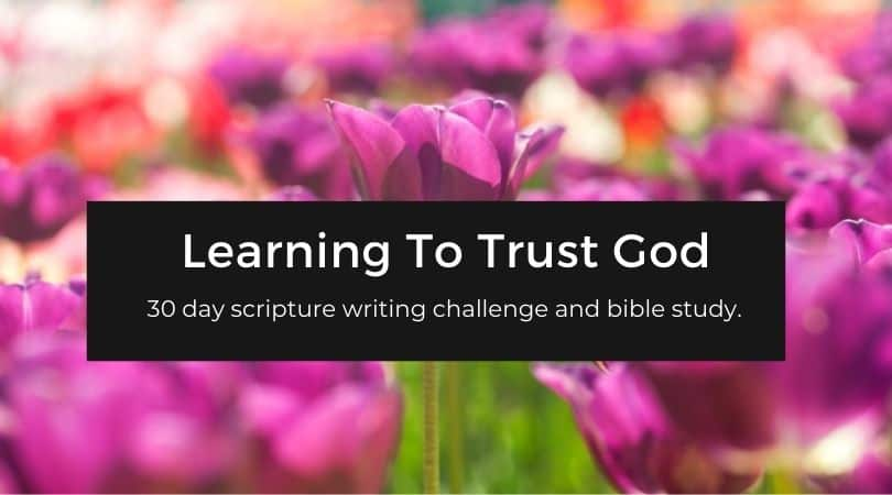 Scripture about trusting God
